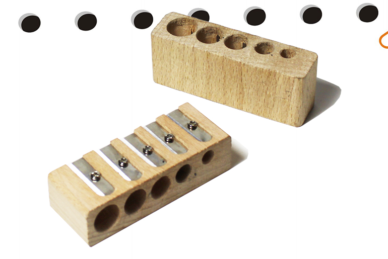 5-HOLE WOODEN SHARPENER