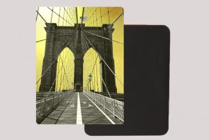 BROOKLYN BRIDGE GOLD MAGNET