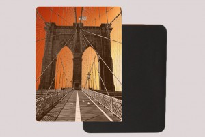 BROOKLYN BRIDGE ORANGE MAGNET