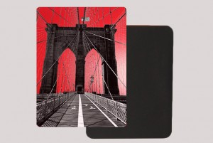 BROOKLYN BRIDGE RED MAGNET