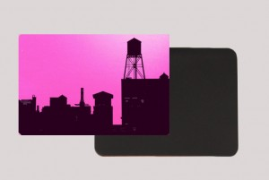 BROOKLYN WATER TOWER PINK MAGNET