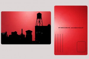 BROOKLYN WATER TOWER RED