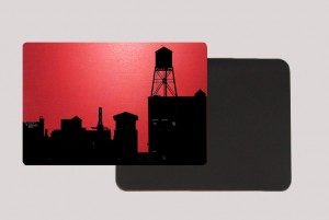 BROOKLYN WATER TOWER RED MAGNET