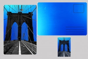 Brooklyn, bridge  blue