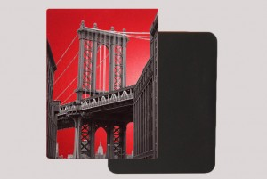 DUMBO BROOKLYN RED MAGNET