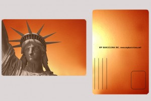 STATUE OF LIBERTY ORANGE