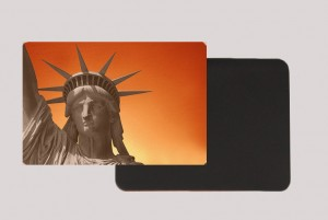 STATUE OF LIBERTY ORANGE MAGNET