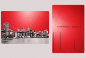 DOWNTOWN NEW YORK SKYLINE RED